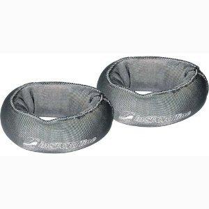Handgelenkgewichte mit Sandfüllung Manschetten Gewichte 2 x 0,5 kg grau