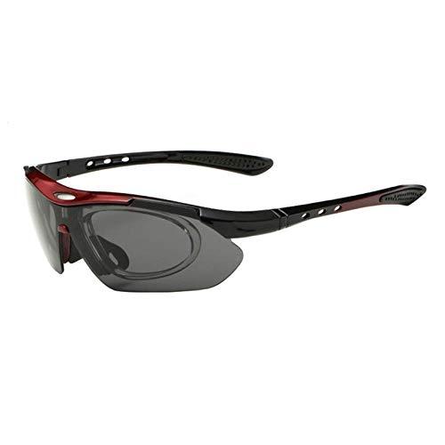 AIOXY Fahrradbrille Männer Frauen Radsportbrille mit abnehmbarem Myopie-Rahmen UV-Schutz Rennrad Mountainbike Sonnenbrille Outdoor Fahrrad Brillen -