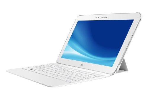Samsung ATIV Tab 3 XE300TZC-K01 25,7cm (10,1 Zoll) Convertible Tablet-PC (Intel Atom Z2760, 1,8GHz, 2GB RAM, 64GB SSD, Win 8) mit Tastatur weiß (Student Samsung Tablet)