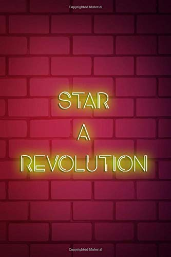 Start A Revolution: Blank Lined Notebook ( Vaporwave ) Red Revolution Womens Sweatshirt