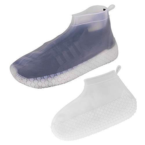 Kindax copriscarpe impermeabili in silicone, materiale duratura con suole più spesse e design più antiscivolo, scarpe pioggia elastiche e riutilizzabili unisex