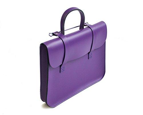 Bag Laptop-tasche Satchel (UK Aus echten Leder Musik oder Laptop Tasche, Messenger Bag violett)