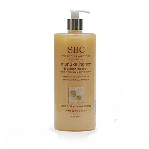 SBC Manuka Honey & Orange Blossom Shower Creme /Gel, 1000ml with pump dispenser