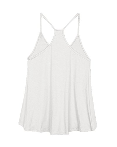 ZANZEA Femmes Sexy Irrégulier Col V En Vrac Débardeur Haut Tank Tops Fête Shirt Caraco Blanc