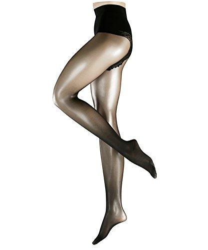 FALKE Damen Matt Fein Strumpfhose Shaping Top, 20 DEN, Gr. 44 (Herstellergröße: 44/46), Schwarz (black 3009)