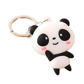 Maoran Keychain Schlüsselbund König Ring König Fob Niedlichen Panda Muster Legierung Geburtstag Geschäfts Hochzeitsgeschenk Tasche Autozubehör Frauen Männer 10cm