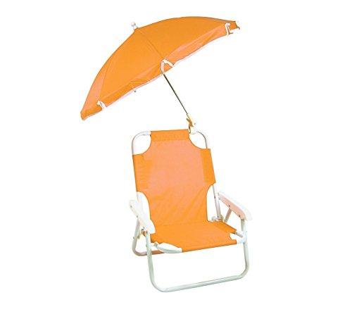 2576 Silla plegable para niños con sombrilla de protección UV - Naranja