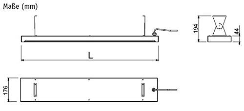 CasaTherm- Infrarot-Dunkelstrahler CasaTherm Heatpanel PLUS/D – Infrarot-Dunkelstrahler (Blacklight), 1500W, 6,8 A, IP55, mit Halterung, inkl. IR-Fernbedienung mit 3 Leistungsstufen - 8