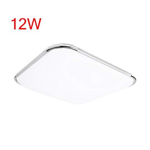 12W Weiß LED Deckenleuchte Eckig Deckenlampe Ultraslim Wohnzimmerlampe Badleuchte Schlafzimmerleuchte Beleuchtung Innenleuchte Silber Energiesparende Möbeleinbauleuchte