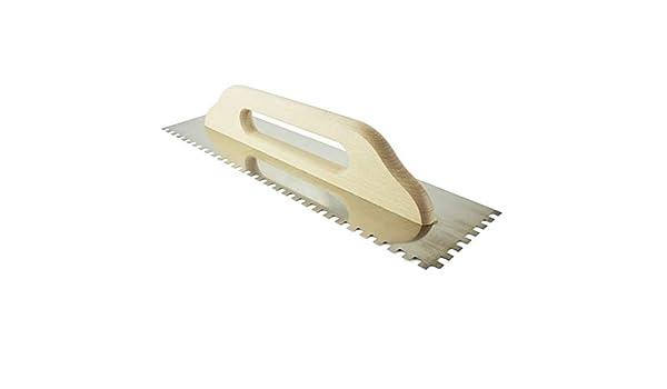 Zahnkelle Zahnspachtel Gl/ättekelle Kleberspachtel Kelle Gr/ö/ße 480 x130 mm Holzgriff MKK/® 4x4 mm
