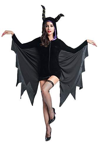 Schatten Nacht Erwachsene Für Kostüm - Xinwcang Halloween Fledermaus Kostüm Damen Halloween Kostüm Cosplay Kostüm Schwarz M
