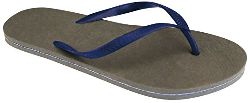 Schreuders Sport Herren Waimea Flip Flops Grey/Navy Blue
