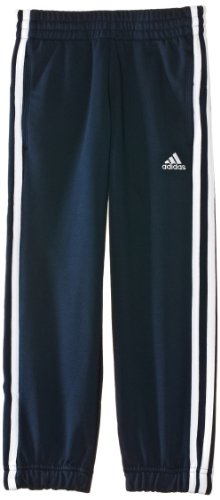 adidas Jungen lange Sporthose Essentials 3-Stripes Sweat Pants French Terry CH, Collegiate Navy/White, 140, Z37541 (Terry French Trainingshose)
