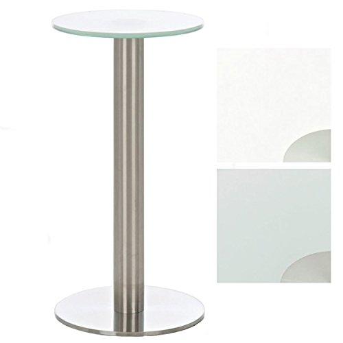 Tavolo rotondo vetro MARIDA base acciaio diametro piano altezza ...