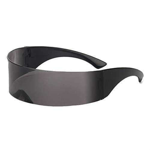 Macxy - Lustig Futuristisch Verpackung um Monob Kostüm Sonnenbrille Maske Neuheit Gläser Halloween-Party-Bevorzugungs-Partei-Dekoration Supplies [Schwarz (Lustig Pj Kostüme)