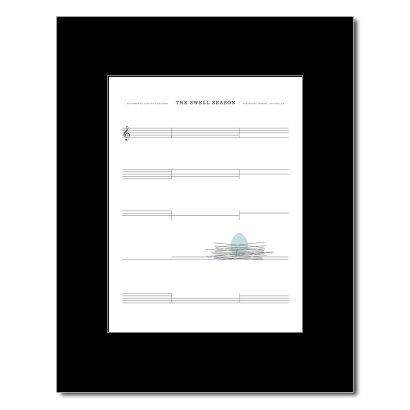 SWELL SEASON Oakland, Ca 2009 305x254mm Matted Music Print/Mini Poster - White (Oakland, Ca-poster)