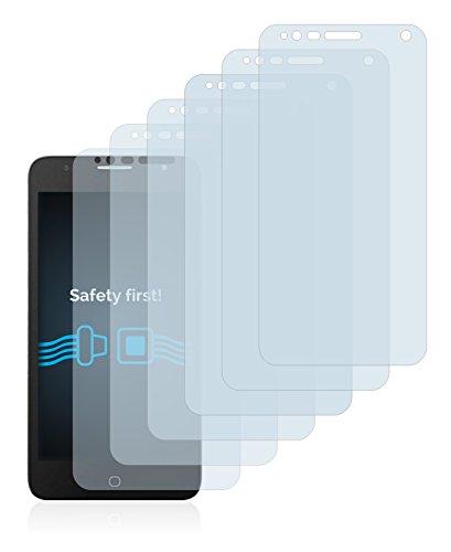 Savvies Schutzfolie für Alcatel One Touch Pop 4 (5) [6er Pack] - klarer Displayschutz