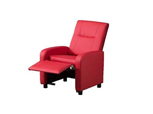 Poltrona karma ecopelle reclinabile recliner comfort casa for Poltrone per anziani amazon