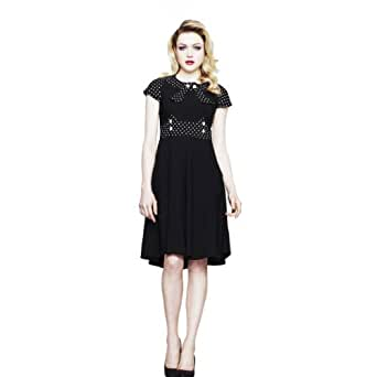 Hell Bunny Kleid SUZY PARKER DRESS 4212 black-white 4XL