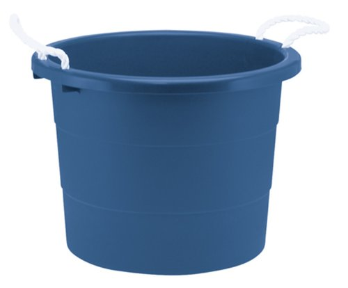 United Solutions TU0014 Nineteen Gallon Blue Rope Handle Tub-19 Gallon/71.9L Rough and Rugged Tub Featuring Rope Handles in Blue -