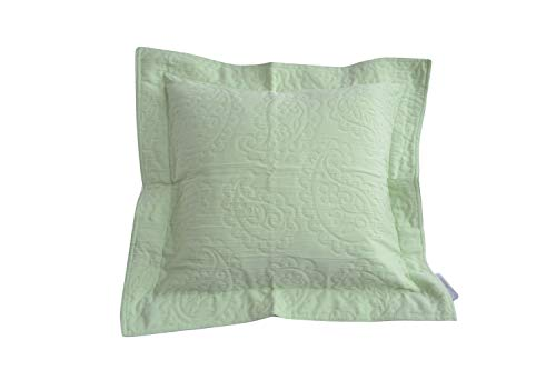 heine home 2er Pack Deko Kissenhülle Couch Kissenbezug mit Stehsaum lindgrün, Größe:80 x 80 cm