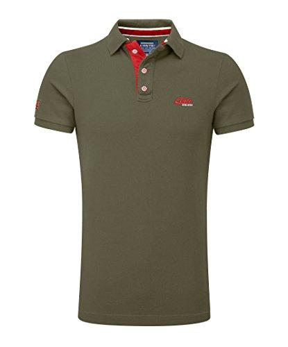 M.Conte Herren Poloshirt Basic Men's Kurzarm Polohemd T-Shirt Polo-Shirt Pique- Gr. M, Militär-Grün - Für Immer Grünes T-shirt