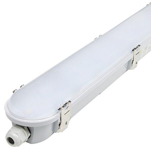 LED Feuchtraumleuchte Wannenleuchte 60cm / 120cm / 150cm als Garagenleuchte Kellerleuchte Büroleuchte Werkstattleuchte