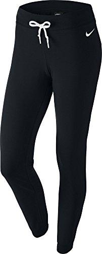 nike-jersey-pantalon-de-sport-a-rebord-pour-femme-noir-blanc-taille-s