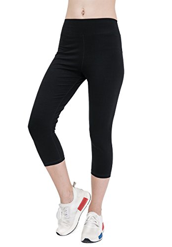 womens-yoga-pants-cotton-sports-workout-leggings-active-running-capris-pilates-trousers-wide-waist-b