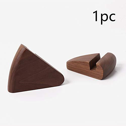 NANAD Dreieckiger mobiler Ständer aus Holz - Universal Walnussholz Smartphone und Tablet Halterung Holz Halterung für alle Handys und Desktop-Zubehör - Dunkelbraun, Dunkelbraun, Free Size -