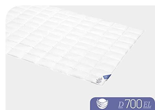 SCHLAFSTIL Bettdecke Daunendecke D 700 Extraleicht 155x 220 cm -