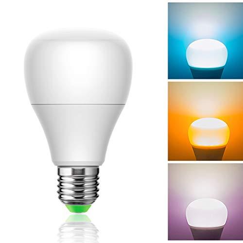 E27 10W LED Birnen, RGB Stimmung Glühbirne, 880lm Farbwechsel Atmosphäre Beleuchtung LED-Lampe, Ideal für Schlafzimmer, Party, Bar, Nicht Dimmbar, 1er Pack - 1 Pack Tri-color