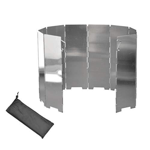 BESPORTBLE 10 Teile/Satz Outdoor Grill Windschutzscheibe Aluminium Windschutzscheibe Grill Klappofen Windschutzscheibe Windschutzscheibe für Camping Picknick - Aluminium-outdoor-grill