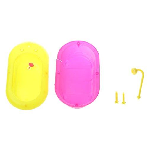 Sharplace Mini Doll Plastica Vasca da Bagno Accessori per per le Bambole Barbie Kelly Bambini Giocattolo per Giochi di Ruolo, 15 * 8.5 * 5cm