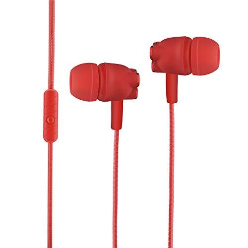 Yowablo In-Ear3.5mm Stereo HiFi Ohrhörer Bass Kopfhörer Sport Headset mit Mikrofon für Xiaomi ( rot )