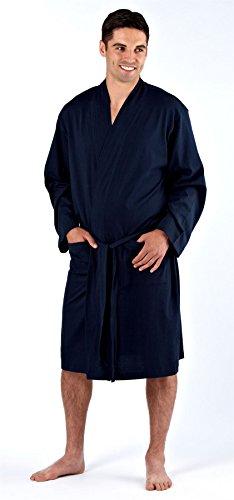 Hombre Bata Lighweight 100% Algodón Puro Suéter Verano - algodón, Azul Marino, 95% algodón 100%...