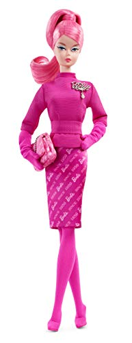 Barbie FXD50 - Signature Proudly Pink Collector Puppe Fashion Model Collection, Gold Label Sammlerpuppen