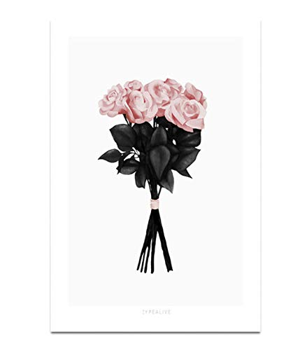 SDFAF Audrey Hepburn Blase Mode Poster Schwarz Weiß Pop Art Nordic Wandmalerei Druck Minimalistischen Dekoration Bild Wohnzimmer 40X60 cm Ohne Rahmen