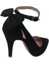 como serch imágenes detalladas diseño popular Amazon.es: zapatos dorados fiesta - Sintético / Sandalias de ...