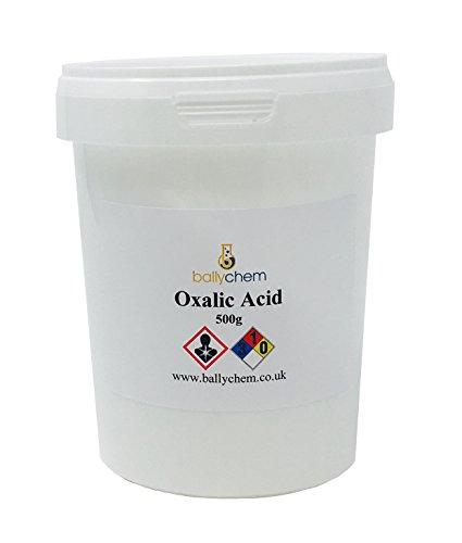 Ácido oxálico 99,5% puro, cubierta y limpiador de casco, eliminador de barniz,...