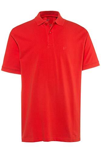 JP 1880 Herren, Poloshirt , Halbarm, Unifarben, Farbe: Orange, Gr. 6XL