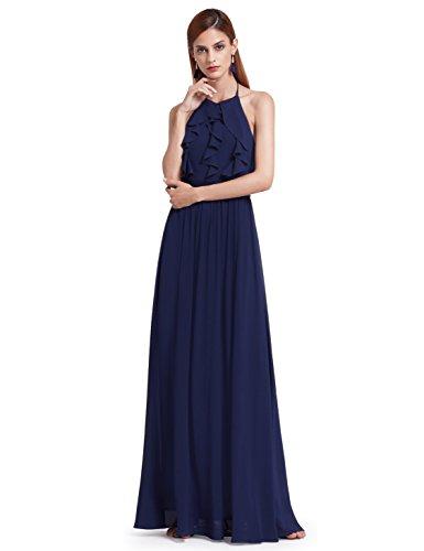 Ever Pretty Elegantes O-Ausschnitt Neckholder Rüschen justierbares Brautjungfern Kleid 38 Größe...