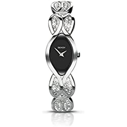 Seksy Women's Quartz Watch with Mother of Pearl Dial Analogue Display and Gold Plated Bracelet 4230.73