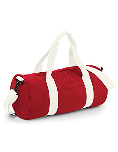 Bag Base - Sac de voyage en toile 20 L - BG140 - VARSITY BARREL BAG - Coloris rouge