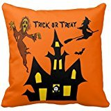 Haunted House Scary Witch Ghost Pumpkin Halloween Pillow Case 18