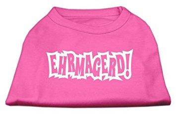Mirage Pet Products ehrmagerd Screen Print-Shirt Bright Pink XXXL (20) -