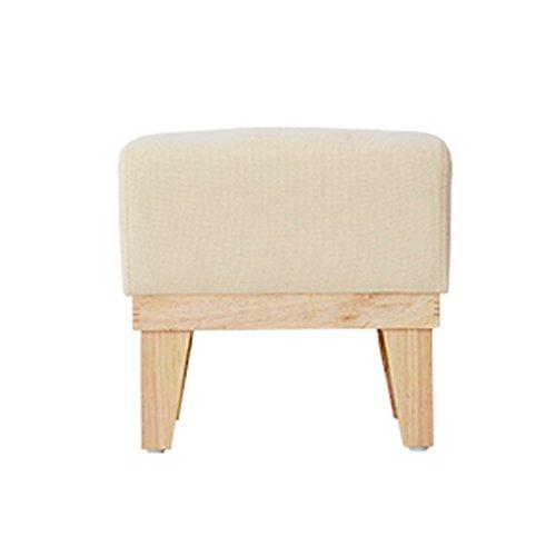 Tabouret court en bois vert siège de support en bois massif 41 * 26 * 38cm (Color : Blanc)