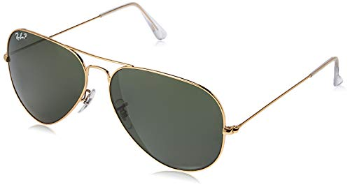 Ray Ban Für Mann Rb3025 Aviator Large Metal Gold / Light Blue Gradient Metallgestell Sonnenbrillen, 58mm