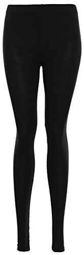Plain Stretchy Viscose Lycra Leggings (XXL to fit UK 18-20, Black)