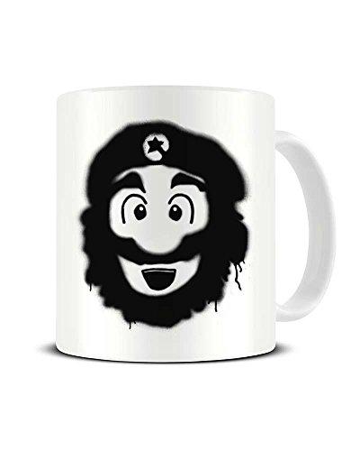 Funky NE Ltd Mario Che Guevara - Mashup - Keramik-Kaffeebecher - tolle Geschenkidee